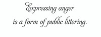 Expressing Anger... (Wall Art Decal)
