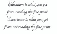 Education Is What... (Wall Art Decal)