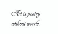 Art Is Poetry... (Wall Art  Decal)