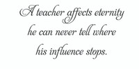 A Teacher Affects... (Wall Art Decal)