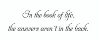 In The Book Of Life... (Wall Art Decal)