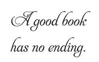 A Good Book Has No Ending Wall Art