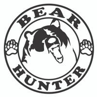 Bear Hunter Decal ( Circle )