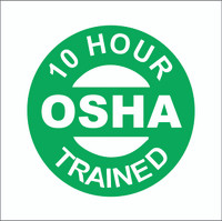 10 Hour OSHA Trained Hardhat Sticker