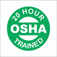 20 Hour OSHA Trained Hardhat Sticker