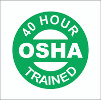 40 Hour OSHA Trained Hardhat Sticker