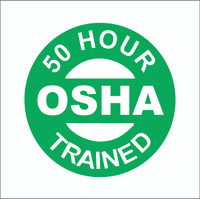 50 Hour OSHA Trained Hardhat Sticker