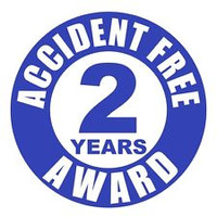 Accident Free 2 Years Award Hardhat Sticker