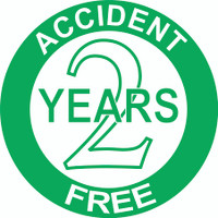 Accident Free 2 Years Hardhat Sticker
