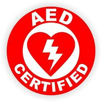 AED Certified Hardhat Sticker