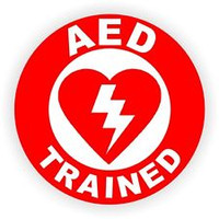 AED Trained Hardhat Sticker