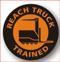 Reach Truck Trained Hardhat Sticker