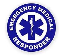 Emergency Medical Responder Hardhat Sticker