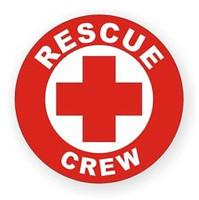 Rescue Crew Hardhat Sticker