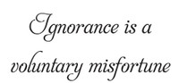 Ignorance Is A Voluntary Misfortune Wall Art