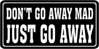 Go Away Bumper Sticker