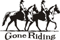 Gone Riding Horse Decal