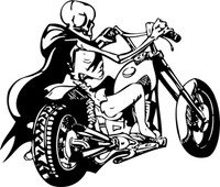 The Bone Rider Motorcycle Decal