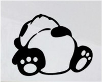 Sleeping Panda Decal