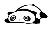 Relaxing Panda Decal