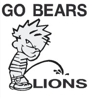 Bears piss on Lions decal