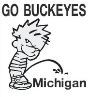 Buckeyes piss on Michigan Decal