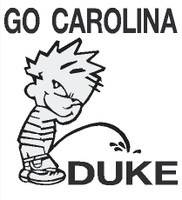 Carolina piss on Duke Decal