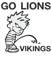 Lions piss on Vikings Decal