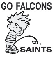 Falcons Piss on Saints Decal