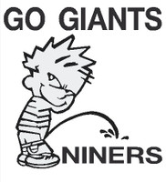 Giants piss on Niners decal