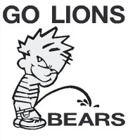 Lions piss on bears decal