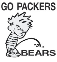 Packers piss on Bears Decal