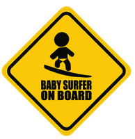 Baby Surfer On Board Sticker