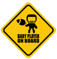 Baby Football Player On Board Sticker