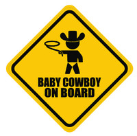 Baby Cowboy On Board Sticker