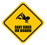Baby Wakeboarder On Board Sticker