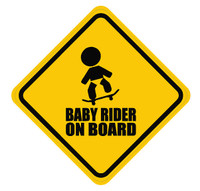Baby Skateboarder On Board Sticker