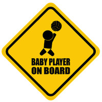 Baby Volleyball Player On Board Sticker