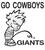 Cowboys piss on Giants decal