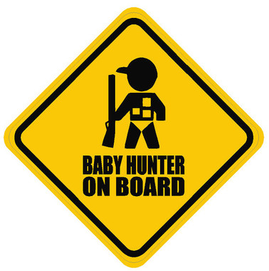 Baby Hunter On Board Sticker