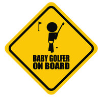 Baby Golfer On Board Sticker