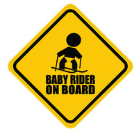 Baby Skier On Board Sticker