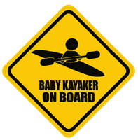 Baby Kayaker On Board Sticker