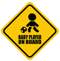 Baby Soccer Player On Board Sticker
