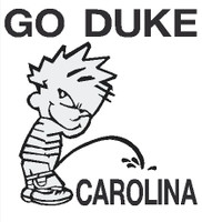 Duke piss on Carolina Decal