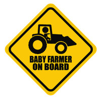 Baby Farmer On Board Sticker