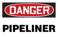 Danger Pipeliner Hardhat Sticker