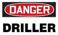 Danger Driller Hardhat Sticker