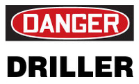 Danger Driller Hardhat Sticker