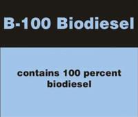 B-100 BIODIESEL STICKER